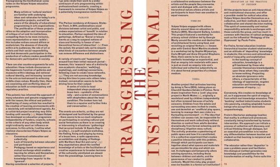 Transgressing the Institutional